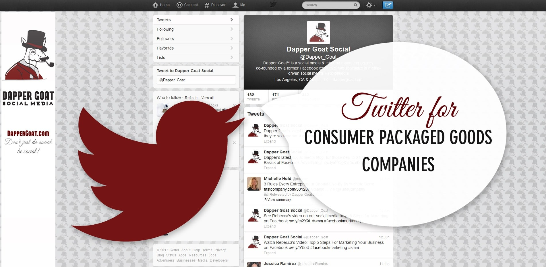 Twitter for Consumer Packaged Goods